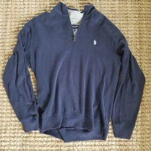 1/4 Zip Mens Polo Ralph Lauren Sweater Sz Large